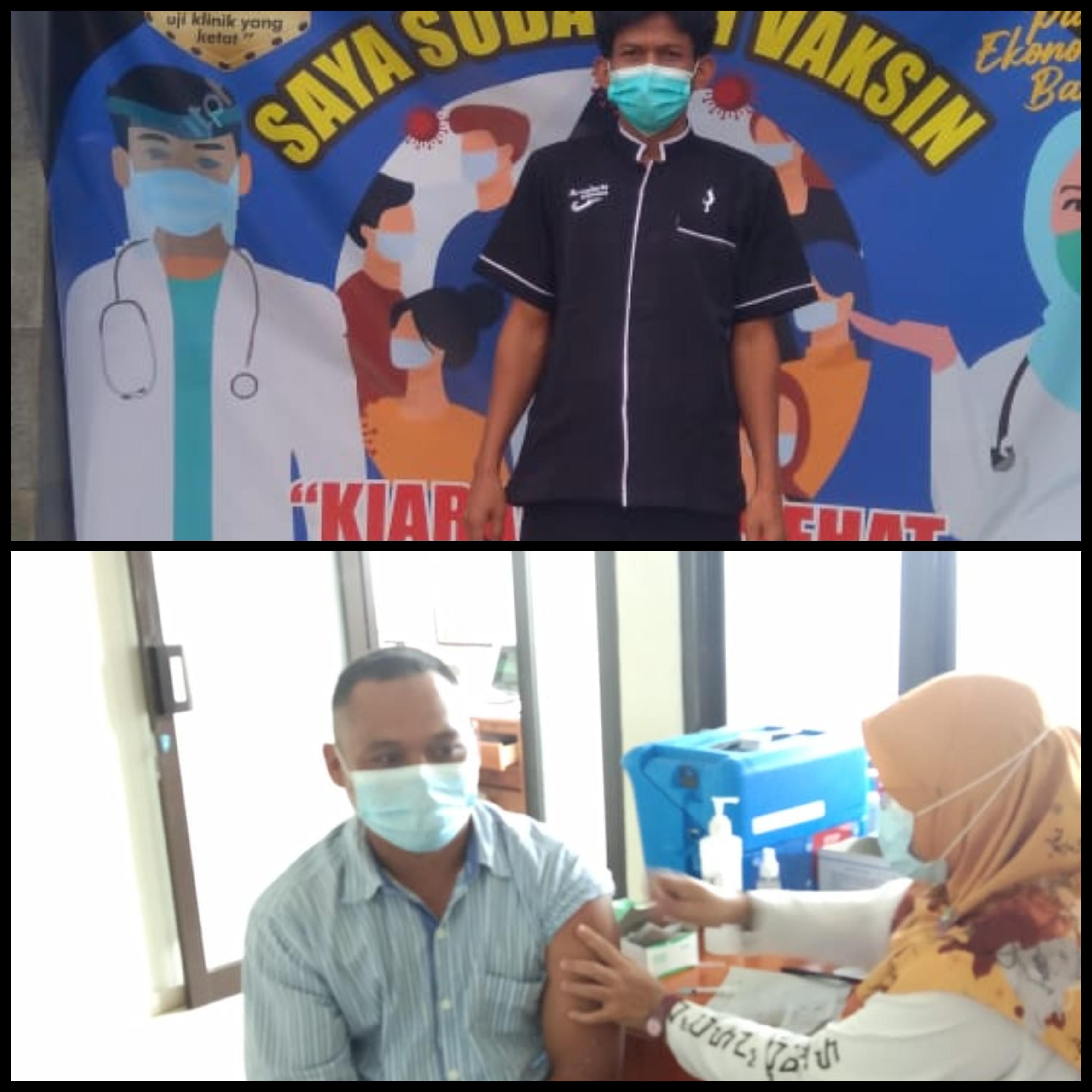 Vaksinasi Perangkat Desa dan Panitia Pemilihan Pilkades Desa Mekarjaya